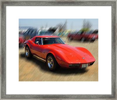 Framed Print featuring the photograph 1973 Corvette by B Wayne Mullins