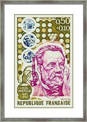 1973 Louis Pasteur 1822-1895 Framed Print by Lanjee Chee