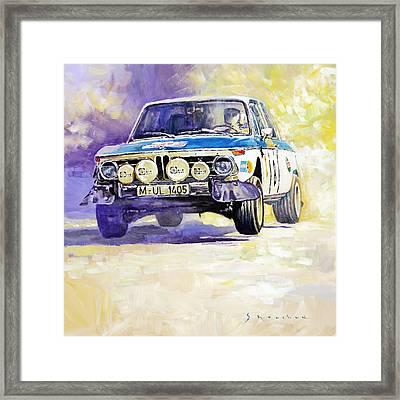 1973 Rallye Of Portugal Bmw 2002 Warmbold Davenport Framed Print by Yuriy Shevchuk