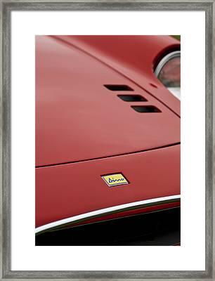 1974 Ferrari Dino 246gts Hood Emblem Framed Print