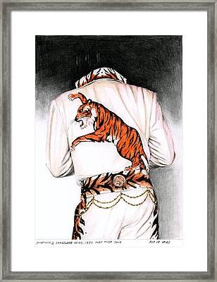1974 Mad Tiger Suit Framed Print by Rob De Vries
