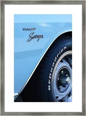 1975 Dodge Dart Swinger Emblem Framed Print