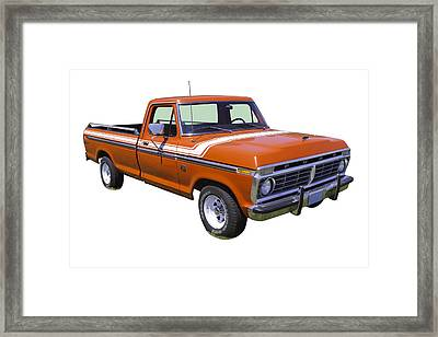 1975 Ford F100 Explorer Pickup Truck Framed Print by Keith Webber Jr