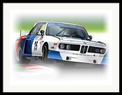 Bmw Racer Framed Prints