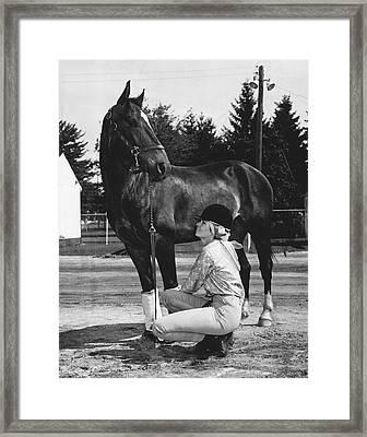 1975 Rockingham Park Vintage Horse Racing Framed Print by Retro Images Archive