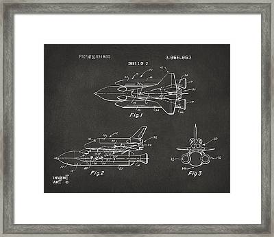1975 Space Shuttle Patent - Gray Framed Print by Nikki Marie Smith