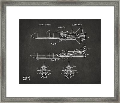 1975 Space Vehicle Patent - Gray Framed Print by Nikki Marie Smith