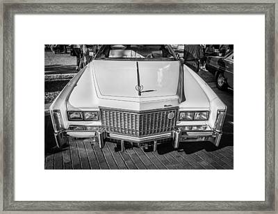 1976 Cadillac Eldorado Bw Framed Print by Rich Franco
