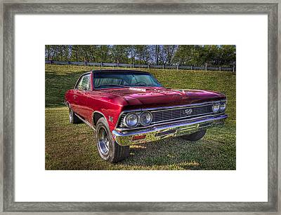 1976 Chevelle Ss 396 Framed Print by Debra and Dave Vanderlaan