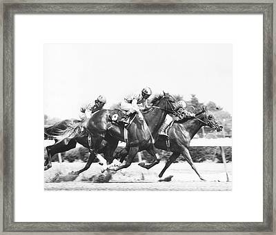 1976 Rockingham Park Vintage Horse Racing Framed Print by Retro Images Archive
