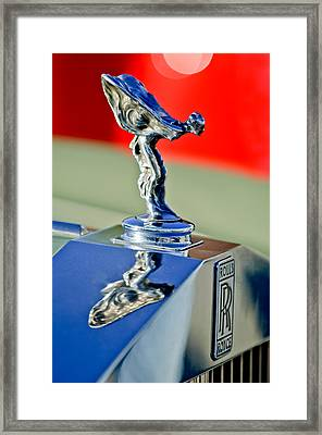 1976 Rolls Royce Silver Shadow Hood Ornament Framed Print by Jill Reger