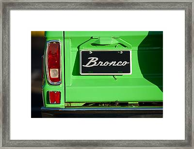1977 Ford Bronco Taillight Framed Print