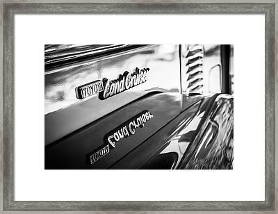 1977 Toyota Land Cruiser Fj40 Emblem -0952bw Framed Print by Jill Reger