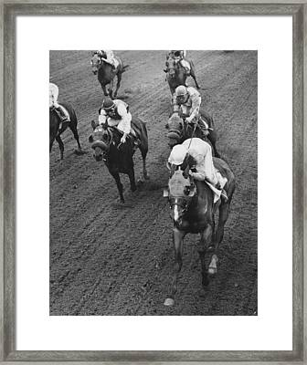 1978 Bridlespur At Suffolk Downs Horse Racing Framed Print by Retro Images Archive