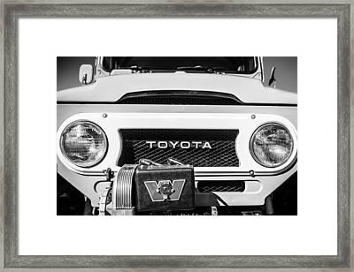 1978 Toyota Land Cruiser Fj40 Grille Emblem -0558bw Framed Print by Jill Reger