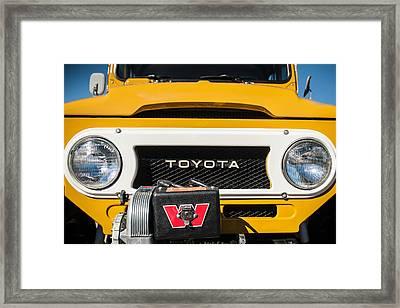 1978 Toyota Land Cruiser Fj40 Grille Emblem -0558c Framed Print by Jill Reger