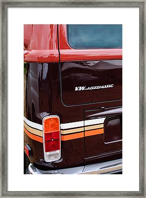 1978 Volkswagen Vw Champagne Edition Bus Taillight Emblem Framed Print by Jill Reger