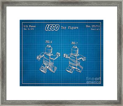 1979 Lego Minifigure Toy Patent Art 2 Framed Print by Nishanth Gopinathan