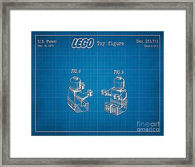 1979 Lego Minifigure Toy Patent Art 3 Framed Print by Nishanth Gopinathan