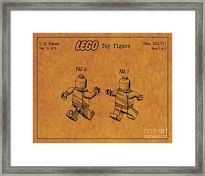 1979 Lego Minifigure Toy Patent Art 5 Framed Print by Nishanth Gopinathan