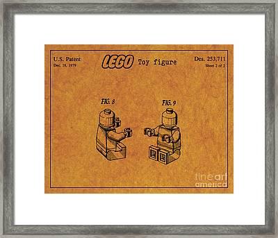 1979 Lego Minifigure Toy Patent Art 6 Framed Print