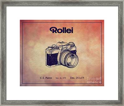 1979 Rollei Camera Patent Art 1 Framed Print
