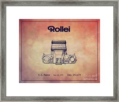 1979 Rollei Camera Patent Art 2 Framed Print by Nishanth Gopinathan