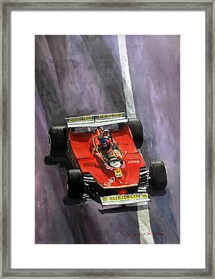 1980 Monaco Gp Gilles Villeneuve Ferrari 312 T5  Framed Print