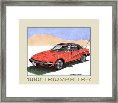 1980 Triumph T R 7 Framed Print by Jack Pumphrey