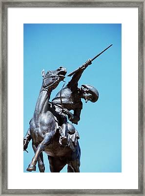 1980s Buffalo Bill Statue Cody Wyoming Framed Print