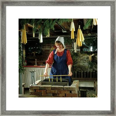 1980s Colonial Reenactment Period Framed Print