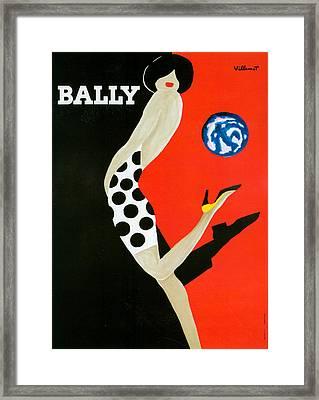 1980s France Bally Poster Framed Print