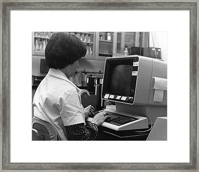 1980s Influenza Testing Lab Framed Print by Cdc