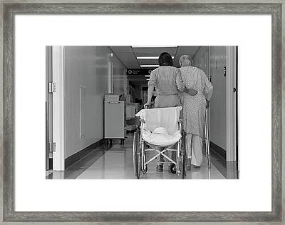 1980s Rear View Of Anonymous Woman Framed Print
