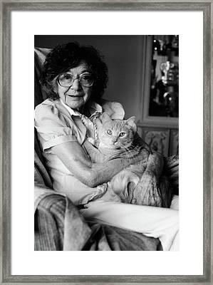 1980s Senior Woman Wearing Glasses Framed Print