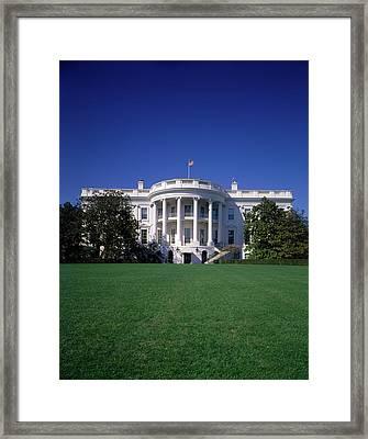 1980s The White House Washington Dc Usa Framed Print