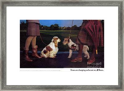 1980s Uk K Shoes Magazine Advert Framed Print