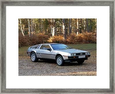 1981 De Lorean Dmc-12 Sports Car Framed Print by Panoramic Images