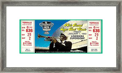 1982 Sugar Bowl Ticket Framed Print by David Patterson