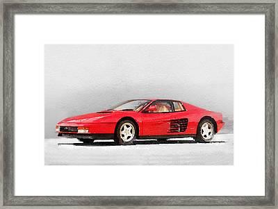 1983 Ferrari 512 Testarossa Framed Print by Naxart Studio