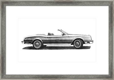 1984 Buick Riviera Convertible Framed Print by Nick Toth