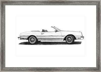 1984 Buick Riviera Convertible White Framed Print by Nick Toth