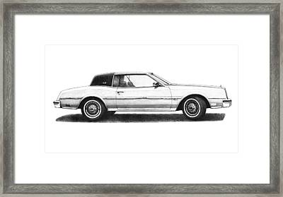 1984 Buick Riviera Coupe White Framed Print by Nick Toth