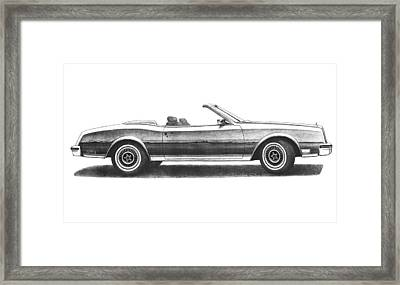1984 Buick Riviera Turbo Convertible Framed Print by Nick Toth