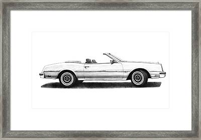 1984 Buick Riviera Turbo Convertible White Framed Print by Nick Toth