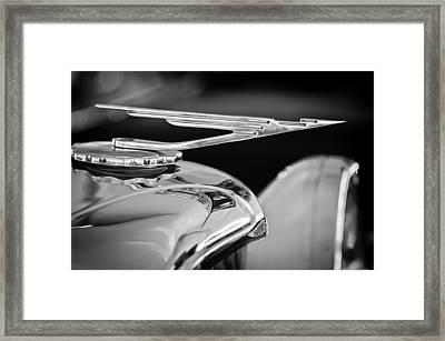 1984 Duesenberg Sj - Twenty Grand - Tribute Hood Ornament -1652bw Framed Print