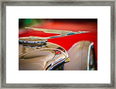 1984 Duesenberg Sj - Twenty Grand - Tribute Hood Ornament -1652c Framed Print