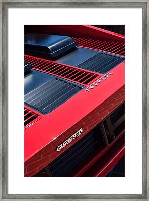 1984 Ferrari 512 Bbi By Pininfarina Rear Emblems -0822c Framed Print by Jill Reger