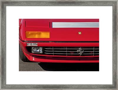 1984 Ferrari 512bbi Grille Emblem -0524c Framed Print by Jill Reger