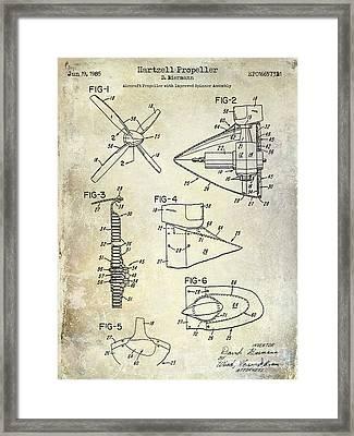 1985 Hartzell Propeller Blueprint Framed Print by Jon Neidert